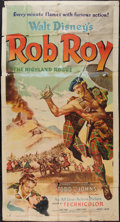 "Movie Posters:Adventure, Rob Roy, the Highland Rogue (RKO, 1954). Three Sheet (41"" X 81"").Adventure.. ..."