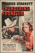"""Movie Posters:Western, Thundering Frontier (Columbia, 1940). One Sheet (27"""" X 41""""). Western.. ..."""