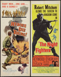 """Movie Posters:War, The Night Fighters and Other Lot (United Artists, 1960). Inserts(2) (14"""" X 36""""). War.. ... (Total: 2 Item)"""