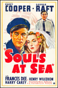 "Movie Posters:Adventure, Souls at Sea (Paramount, 1937). One Sheet (27"" X 41"") Style B.Adventure.. ..."