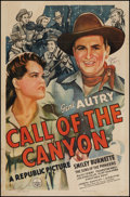 "Movie Posters:Western, Call of the Canyon (Republic, 1942). Autographed One Sheet (27"" X 41""). Western.. ..."