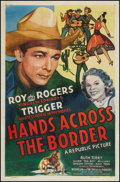 """Movie Posters:Western, Hands Across the Border (Republic, 1944). One Sheet (27"""" X 41"""").Western.. ..."""