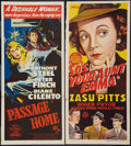 "Movie Posters:Action, So's Your Aunt Emma! & Other Lot (Monogram, 1942). AustralianPost-War Daybills (2) (13.25"" X 30""). Action.. ... (Total: 2 Items)"
