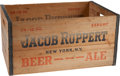 Baseball Collectibles:Others, 1930's Jacob Ruppert Brewery Beer Crate....