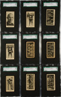 Hockey Cards:Lots, 1928 V128-2 Paulin's Candy Hockey SGC-Graded Collection (15). ...