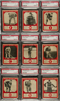 Hockey Cards:Lots, 1933 V252 Canadian Gum PSA-Graded Collection (13)....