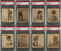 """Hockey Cards:Lots, 1933 V357 World Wide Gum """"Ice Kings"""" PSA-Graded Collection (8). ..."""
