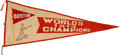Baseball Collectibles:Others, Enormous 1914 Boston Braves World Champions Pennant--Finest KnownExample....