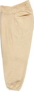 Baseball Collectibles:Uniforms, 1957 Pee Wee Reese Game Worn Brooklyn Dodgers Pants....