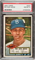 Baseball Cards:Singles (1950-1959), 1952 Topps Pee Wee Reese #333 PSA NM-MT 8....
