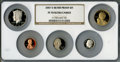 Proof Sets, 2007-S 1C Silver Proof Set PR70 Ultra Cameo NGC. This set includes: Lincoln Cent, Monticello Nickel, Roosevelt Dime, Kenned... (Total: 5 coins)