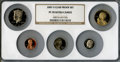 Proof Sets, 2007-S 1C Clad Proof Set PR69 Ultra Cameo NGC. This set includes: Lincoln Cent, Monticello Nickel, Roosevelt Dime, Kennedy... (Total: 5 coins)