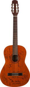Music Memorabilia:Autographs and Signed Items, A Celebrity Signed Taka Acoustic Guitar, Circa 1990....