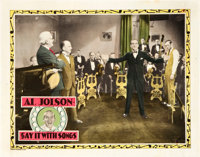 """Say it with Songs (Warner Brothers, 1929). Lobby Cards (2) (11"""" X 14""""). Musical. ... (Total: 2 Items)"""