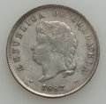 Colombia, Colombia: Republic 50 Centavos 1887 -1908 Study Lot,... (Total: 15 coins)