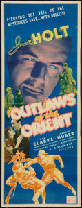 "Movie Posters:Adventure, Outlaws of the Orient (Columbia, 1937). Insert (14"" X 36"").Adventure.. ..."