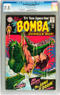 Silver Age (1956-1969):Adventure, Bomba the Jungle Boy #1 (DC, 1967) CGC VF- 7.5 Off-white to white pages....