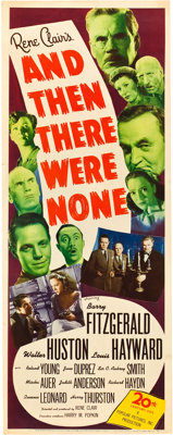 "And Then There Were None (20th Century Fox, 1945). MP Graded Insert (14"" X 36"")"