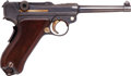 Handguns:Semiautomatic Pistol, Swiss Luger 1906 Bern Semi-Automatic Pistol with Custom Wooden Case....