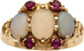 Estate Jewelry:Rings, Antique Opal, Ruby, Gold Ring. ...