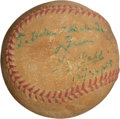 Autographs:Baseballs, 1958 Ty Cobb Single Signed Baseball....