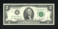Error Notes:Mismatched Prefix Letters, Fr. 1935-B $2 1976 Federal Reserve Note. Gem Crisp Uncirculated..Mismatched prefix letters, the left serial number beginnin...