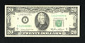 Error Notes:Skewed Reverse Printing, Fr. 2075-I $20 1985 Federal Reserve Note. Extremely Fine+.. Theface of this Minneapolis $20 has wide margins and nice cente...