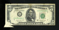 Error Notes:Foldovers, Fr. 1964-G $5 1950C Federal Reserve Note. Fine.. The lowerleft-hand corner shows a nice foldover error....
