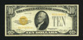Small Size:Gold Certificates, Fr. 2400 $10 1928 Gold Certificate. Very Fine.. Sound edges and nice color are found on this $10 Gold....