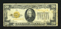 Small Size:Gold Certificates, Fr. 2402 $20 1928 Gold Certificate. Fine.. This note has some staining....