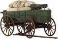 Western Expansion:Cowboy, ORIGINAL BED WAGON USED ON A WESTERN RANCH ca. 1880's - Originalbed wagon that has never been painted but the gears have be...