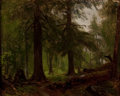 Paintings, GEORGE HETZEL (American, 1826-1899). Forest Interior, 1876. Oil on canvas . 10-1/2 x 13-1/4 inches (26.7 x 33.7 cm). Sig...