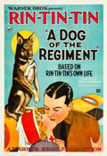 "Movie Posters:Drama, A Dog of the Regiment (Warner Brothers, 1927). One Sheet (28.25"" X41"") Style B.. ..."