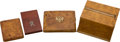Antiques:Antiquities, Lot of Four Collectible Antique Wooden Cigarette Cases.... (Total:4 )