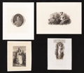 Confederate Notes:Group Lots, Vignettes/Portraits on Confederate Notes and On An Obsolete.. ...(Total: 4 items)