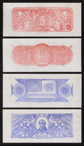 Confederate Notes:Group Lots, Set of Chemicograph Backs Intended for Confederate Currency.. ...(Total: 6 notes)