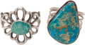 American Indian Art:Beadwork and Quillwork, Lot of Two Turquoise Bracelets.. ... (Total: 2 )