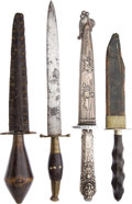 Edged Weapons:Knives, Lot of 4 Assorted Daggers.... (Total: 4 Items)
