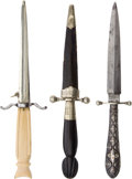 Edged Weapons:Daggers, Lot of Three 19th Century Dirks.... (Total: 3 Items)