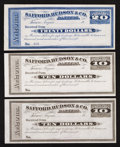 Miscellaneous:Other, Tuscon, AZ- Safford, Hudson & Co. Bankers Unused Bank Receipt$10 in Mexican Silver Two Examples. Tuscon, AZ- Safford, Hud...(Total: 3 items)