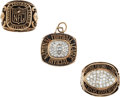 Football Collectibles:Others, Circa 1990's Gary Lane National Football League Referee Rings and Pendant Lot of 3....
