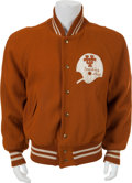 Football Collectibles:Uniforms, 1973 Darrell Royal Game Worn University of Texas Longhorns Coach's Jacket - From Historic Cotton Bowl Victory!...