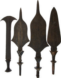 EIGHT ASSORTED ETHNOGRAPHIC WEAPONS FROM CENTRAL AFRICA