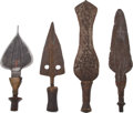 Edged Weapons:Knives, Lot of Four African Ethnographic Knives.... (Total: 4 Items)