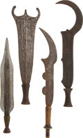 Paintings, Lot of Four African Ethnographic Knives & Two Ceremonial Swords.... (Total: 6 Items)