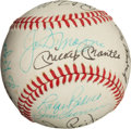Autographs:Baseballs, 1970's Multi-Signed Baseball with DiMaggio, Mantle & Maris....