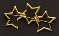 Estate Jewelry:Brooches - Pins, Triple Star 18k Gold Tiffany & Co. Pin. ...