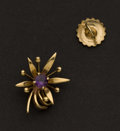Estate Jewelry:Earrings, Single Earring Tiffany & Co. 18k Gold & Amethyst. ...