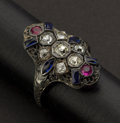Estate Jewelry:Rings, Early 18k Gold & Diamond Ring. ...