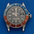 Timepieces:Wristwatch, Rolex Very Rare Pointed Crown Guard Ref. 1675 GMT-Master ForRestoration, circa 1960. ...